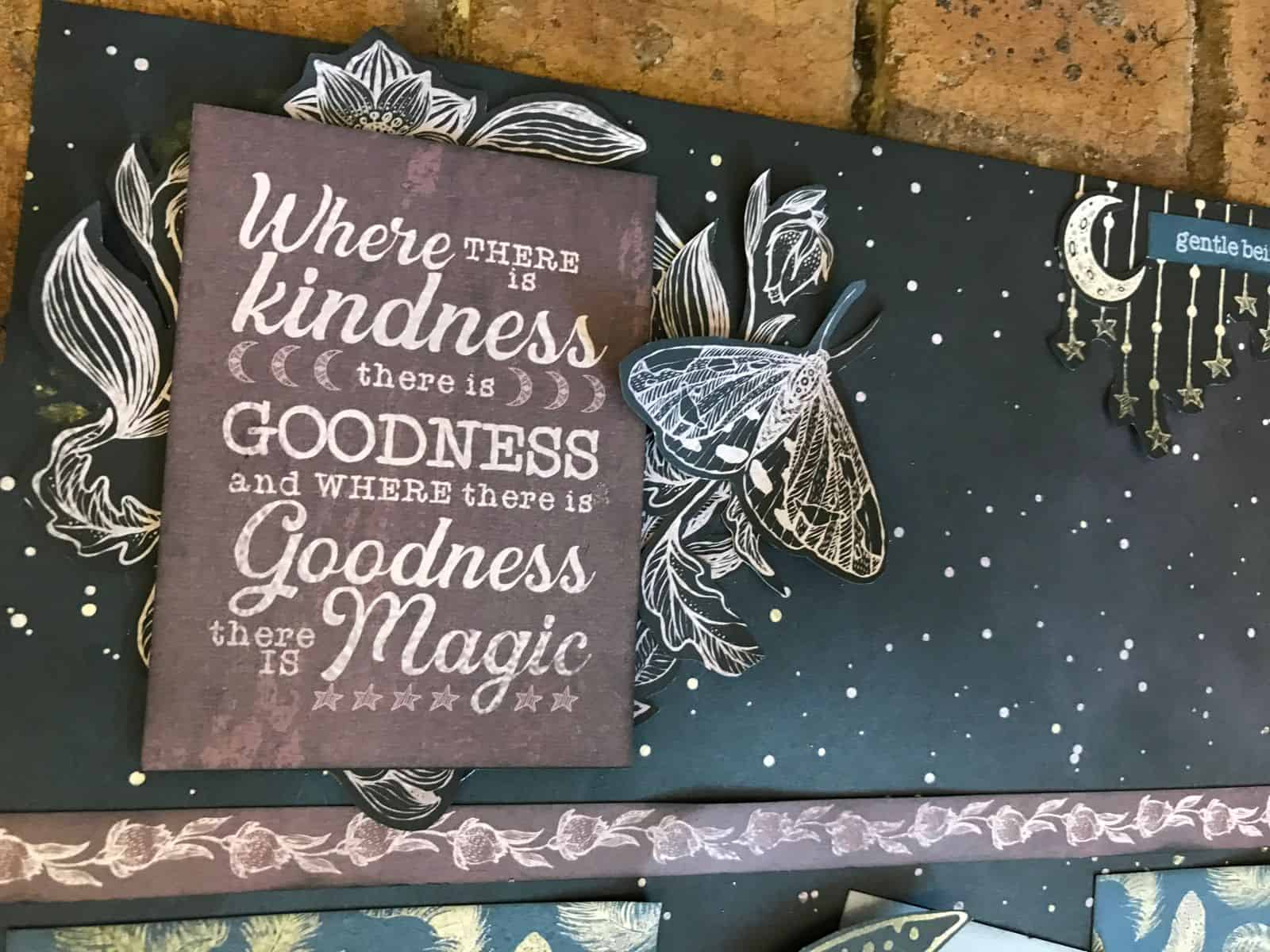 Where There Is Kindness Scrapbook Layout