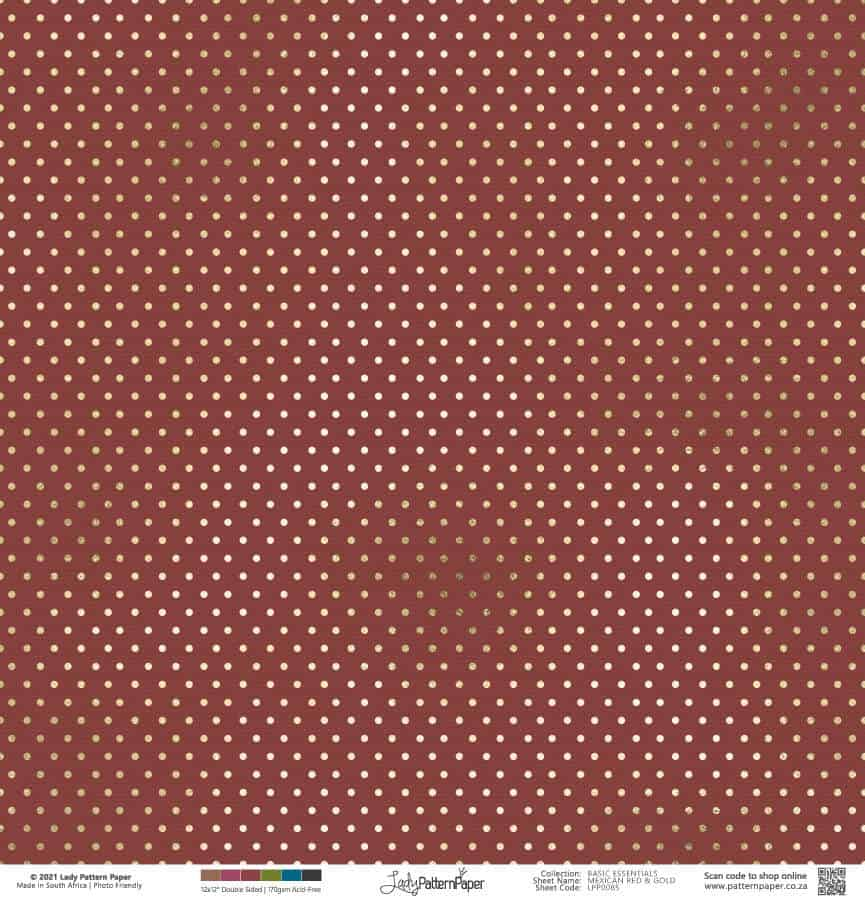 LPP0085 - Basic Essentials Mexican Red and Gold - Dots